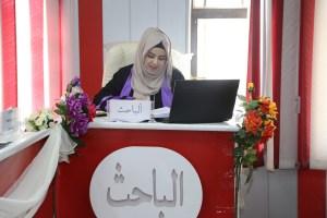 Read more about the article جانب من مناقشة طالبة الماجستير هبة نبيل حميد المسعودي