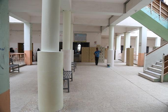 You are currently viewing التشطيب النهائي الاعمال الصيانة في بناية قسم الاحصاء وادارة الاعمال