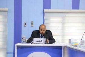 جانب من مناقشة الطالب رائد اسمر عبد الله