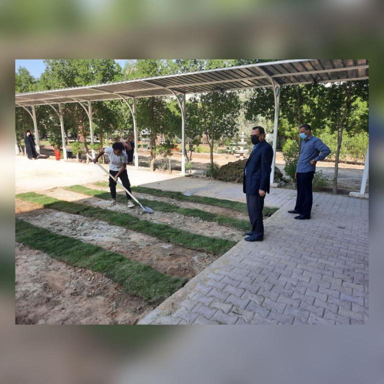صيانة الحديقة الجانبية للبناية الثانية