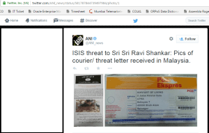 Sri Sri ISIS threat