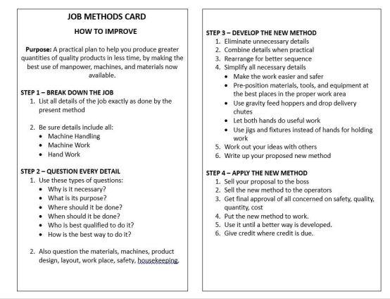 Job Methods