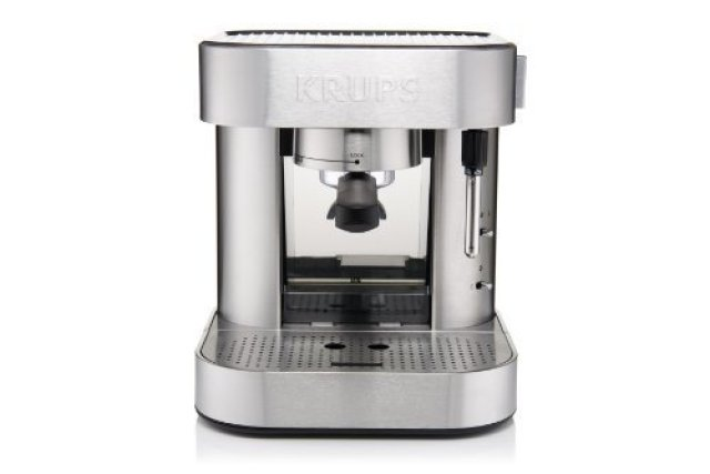 The KRUPS XP601050 Manual Pump Espresso Machine