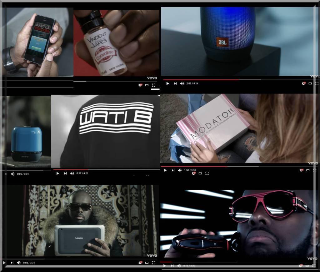 Smartphone, tablettes, enceintes bluetooth, cigarette electronique, site e-commerce de chaussures, tout est bon dans le placement de produit :)