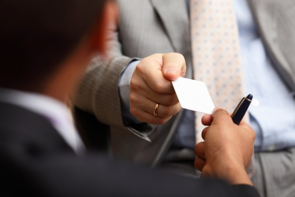 Want a tool for managing business cards? Try your phone!