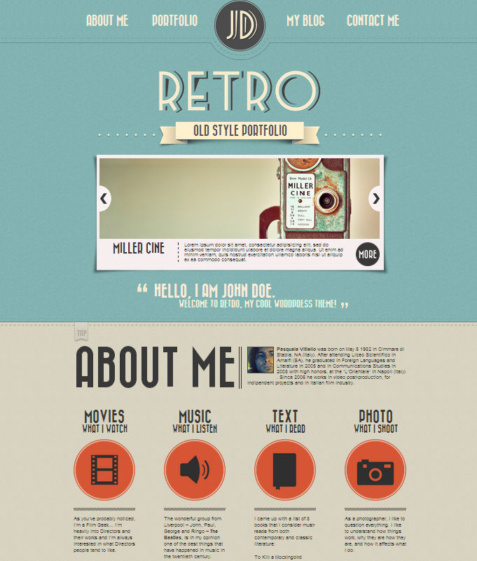 retro-wordpress-portfolio-theme