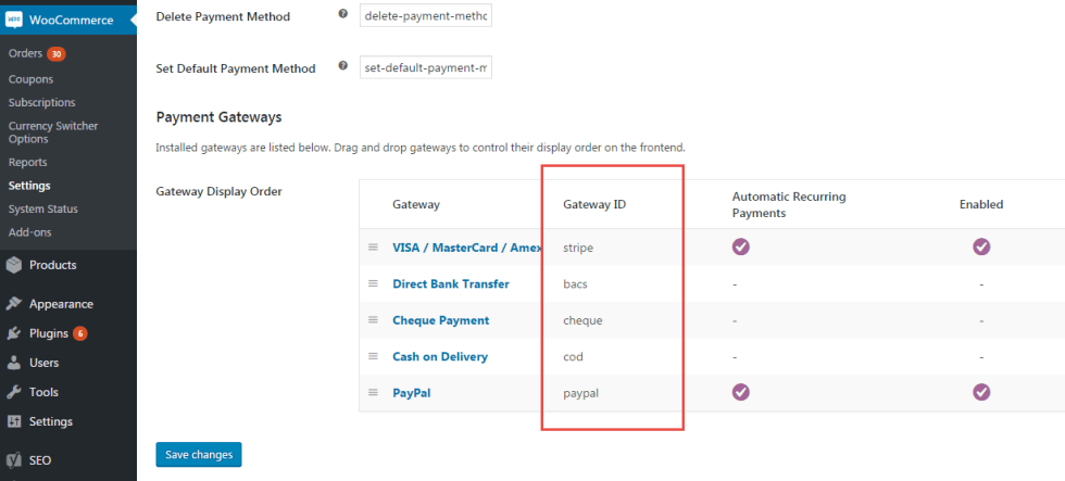 Find Gateway ID (WooCommerce Payments)