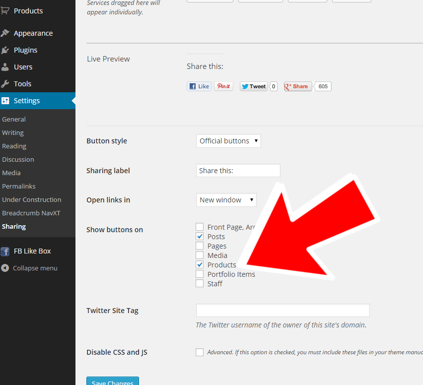 WooCommerce: enable sharing buttons on product page