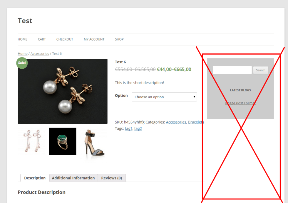 WooCommerce: remove the sidebar from the single product pages