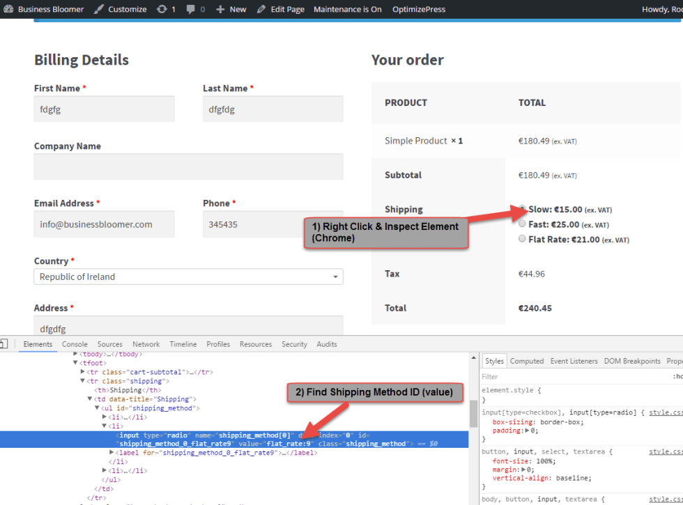 Find Shipping Method Name in WooCommerce 2.6+