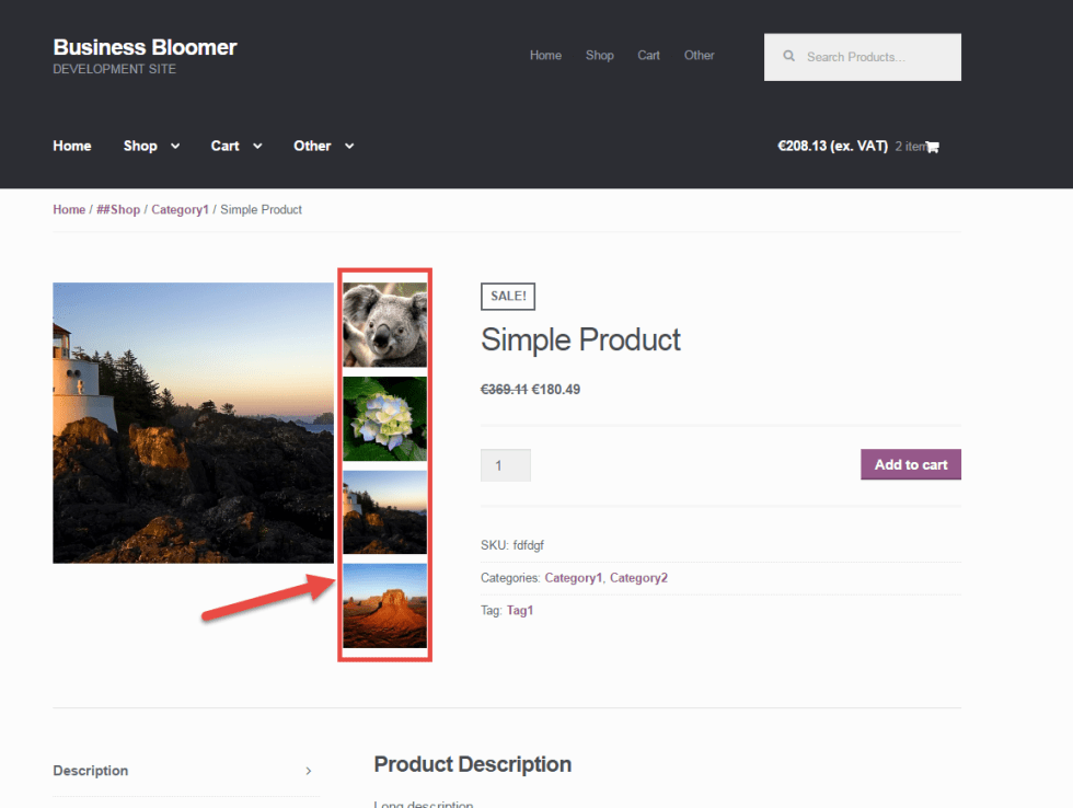 WooCommerce: Display Product Gallery Vertically (Single