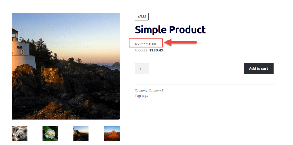 WooCommerce: Display RRP/MSRP on the Single Product Page