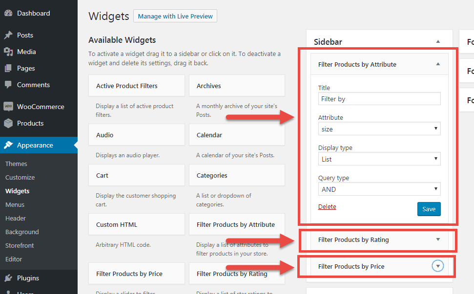 How to Enable WooCommerce Product Filters (i e