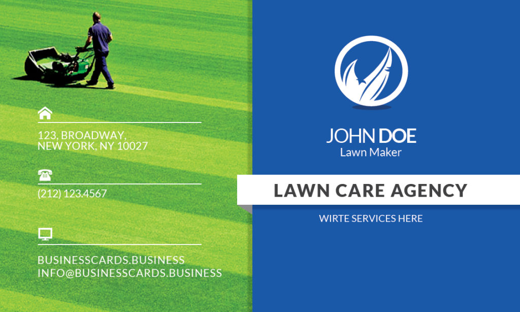 lawn care business card templates