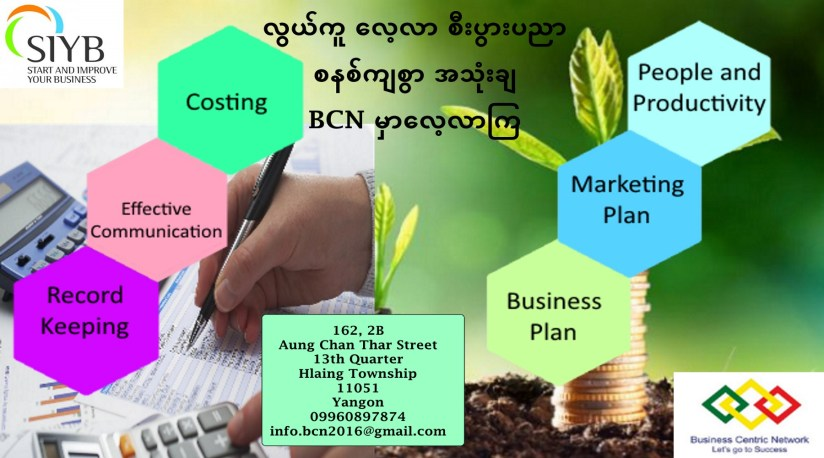 Business Plan Marketing Plan People and Productivity Costing Record Keeping Effective Communication