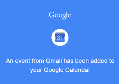 Inbox overflowing? Create Calendar events!
