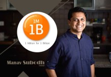 Manav Subodh is Co-founder of 1M1B