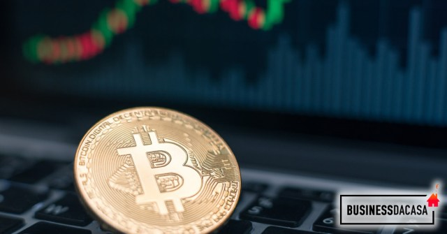 Criptovaluta Bitcoin in rialzo