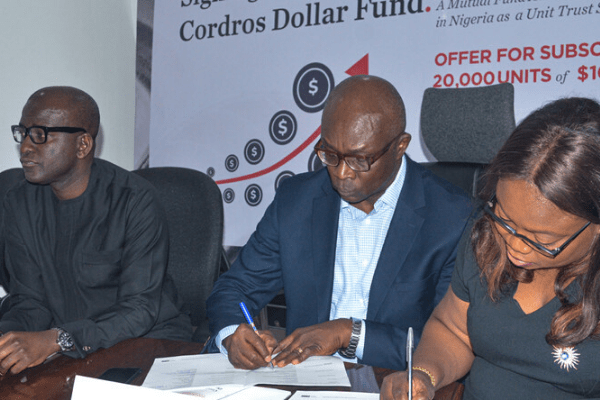 Investors to get 4-6% returns on new Cordros dollar mutual funds -