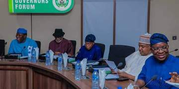 Governors in marathon meeting over N614bn bailout deductions, mass housing - Businessday NG