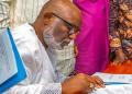 Akeredolu signs public health regulations order over Coronavirus - Businessday NG