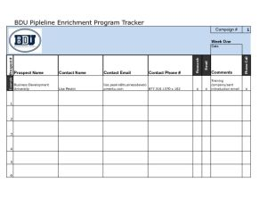 thumbnail of BDU Pipeline Enrichment Program Tracker