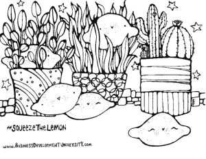 thumbnail of lemon coloring page