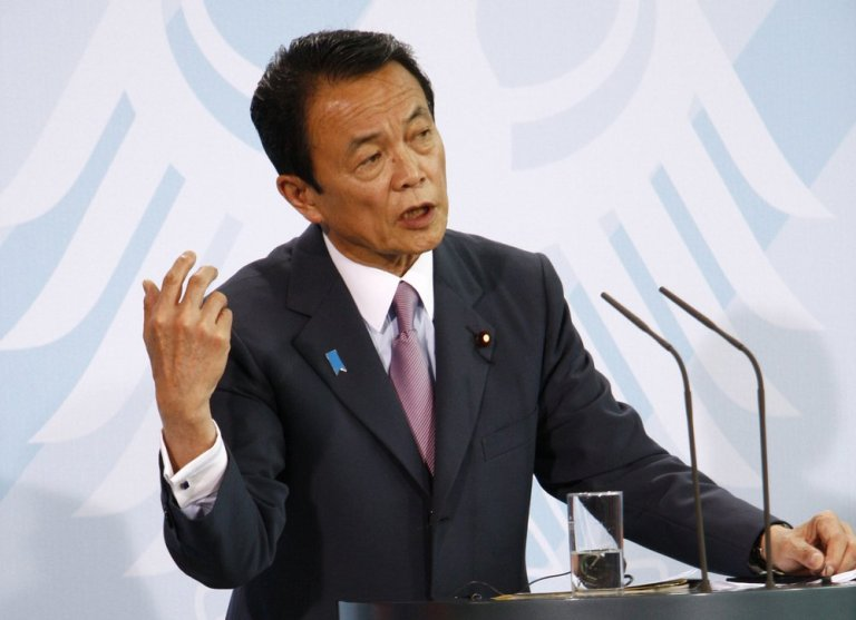 Taro Aso - Japan's Finance Minister declares that cryptocurrency trading will strengthen