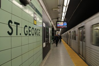 Toronto Subway Font at St. George Station