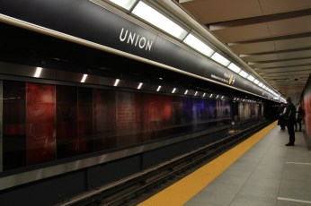 Toronto Subway Font at Union Station
