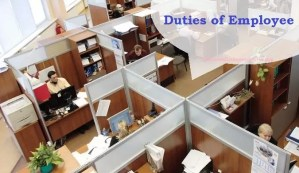 employee duties in office
