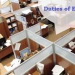 employee duties in office