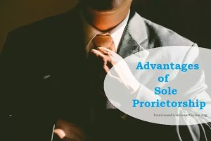 advantages of sole proprietorship