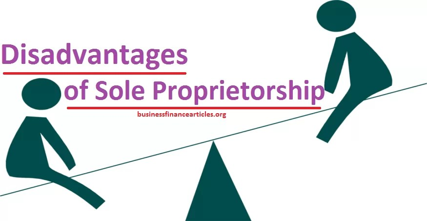 disadvantages of sole proprietorship