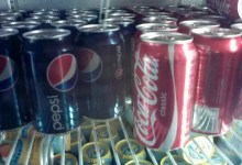 coke and pepsi in fridge