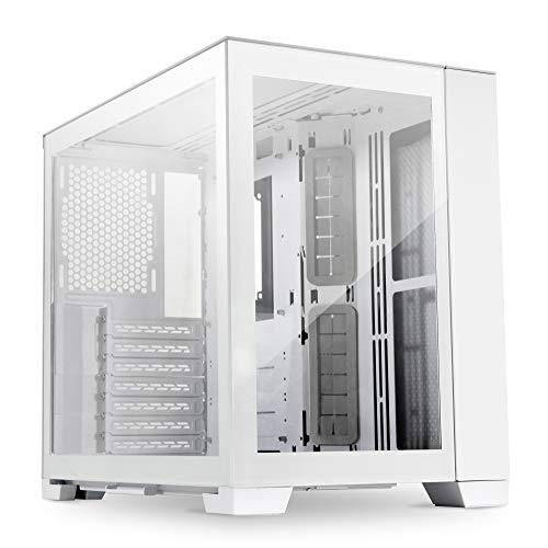 LIAN LI O11-Dynamic-mini Computer Case I Gaming Cabinet - Snow White I ATX/Micro-ATX/Mini-ITX Motherboard Support I 4 mm Tempered Glass