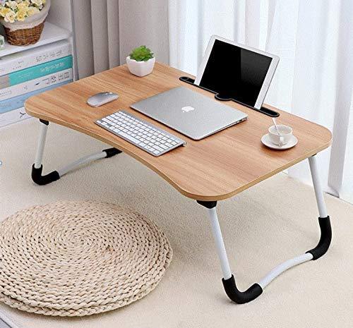k2 ENTERPRISE Multi-Purpose Colour Study Table Bed,Folding Study Table,Laptop Tables,Small Study Tables,Bed Table/Wooden Foldable Bed Table/LAPDESK/Study Table,Bed,Table for Study (Brown)