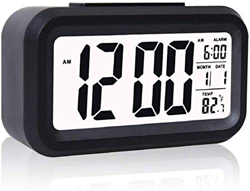 DK HOME APPLIANCES Digital Smart Alarm Clock with Automatic Sensor,Backlight Digital Clock/Car Dashboard/Office Desk,with Date & Temperature,Alarm Clock for Bedroom