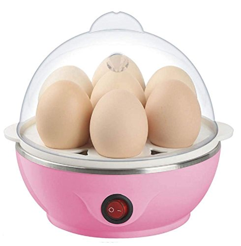 Zyomatiq Egg Boiler Electric Automatic Off 7 Egg Poacher for Steaming, Cooking Also Boiling and Frying Home Egg Cooker Machine (Multi Colour)