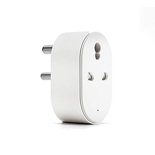 Auslese™ 16A App Control Smart Mini WiFi Plug Socket Wireless Remote Control for Household Appliances Compatible with Alexa, Google Home and Support IFTTT (Max Current :- 16A)