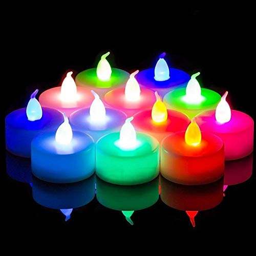Gadgets Appliances Set of 12 pcs LED Tea Light for Home Decor for Diwali Decoration Home Decor Items Best Diwali Gifts for Family and Friends Pack of 1 Candle(Multicolor, Pack of 12)