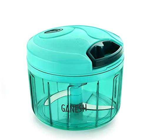 Ganesh Plastic Vegetable Chopper Cutter, Pool Green (725 ml)