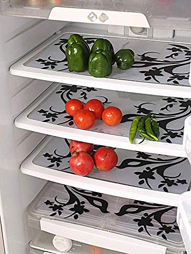 Kuber Industries Birds Design 6 Piece PVC Refrigerator Mat Set - Multicolour (CTKTC0710)