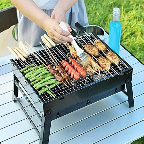 NEEJAN Carbon Steel Portable & Foldable barbeque grills tanduri griller Briefcase Style chicken griller for home Barbeque for Outdoor and Indoor Dining Charcoal Base Grill Toaster