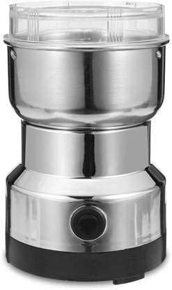 PARATPAR MALL Mini Electric Stainless Steel Smash Machine, Multi Function Small Food Grinder, Portable Coffee Bean Seasonings Spices Mill Automatic Grinding Tool Appliance - Home and Office.