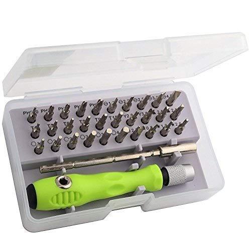 SOLOVIBES 32 in 1 Interchangeble Multipurpose Mini Screwdriver Set Magnetic Slot Wrench Bits Repair Tools Kit Set Combination Screwdriver Set for Home Appliance,Laptop,Mobile,Compute