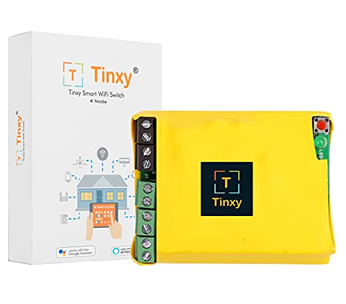 T Tinxy Device 4 Node Smart Switch. Compatible with Alexa and Google Home