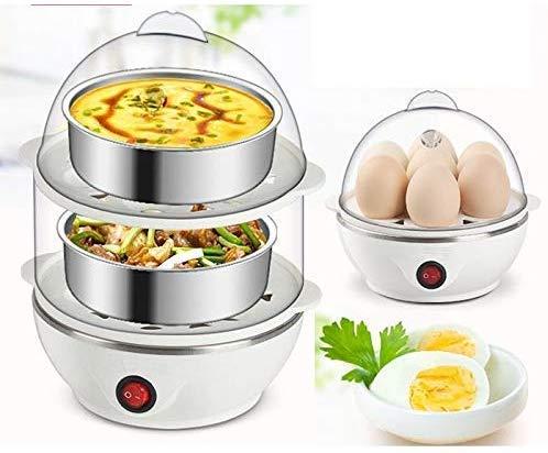 VC Vihan Multi-Function Electric 2 Layer Egg Boiler Cooker&Steamer, Egg Boiler Electric Automatic Off, Double Layer Egg Boiler