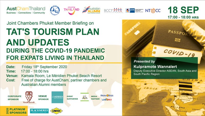 AustCham Briefing, Sundowners return to Phuket with TAT guest speaker