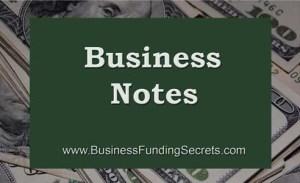 business note, alternative finance, http://businessfundingsecrets.com/, tips,